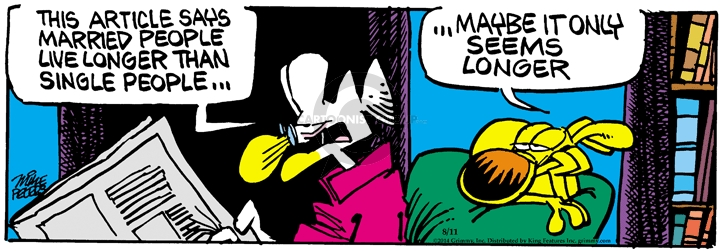 Comic Strip Mike Peters  Mother Goose and Grimm 2014-08-11 dissatisfaction