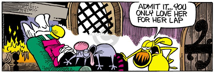Comic Strip Mike Peters  Mother Goose and Grimm 2014-08-21 lap