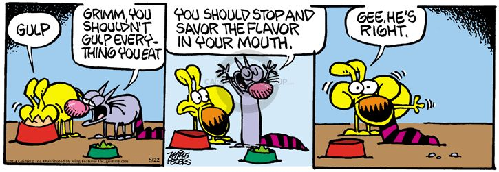 Comic Strip Mike Peters  Mother Goose and Grimm 2014-08-22 mouth
