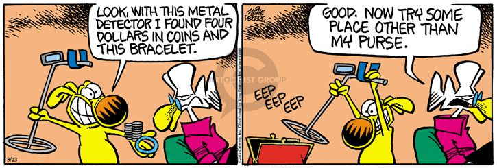 Comic Strip Mike Peters  Mother Goose and Grimm 2014-08-23 metallic