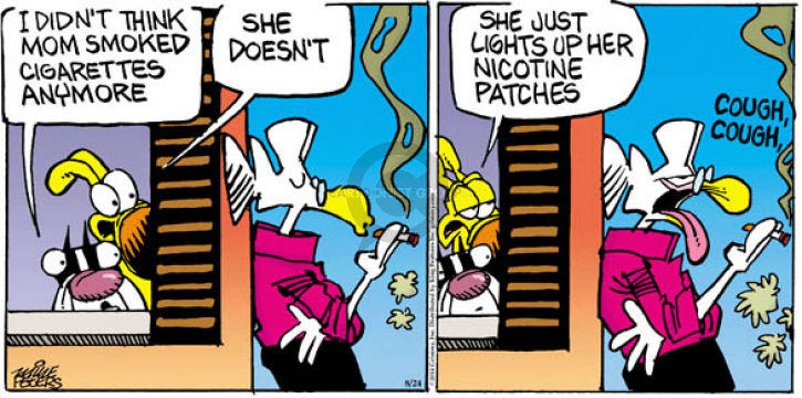 Comic Strip Mike Peters  Mother Goose and Grimm 2014-08-24 dependence
