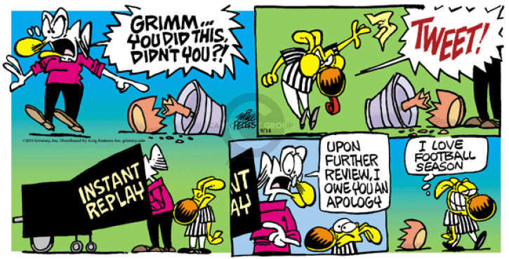 Comic Strip Mike Peters  Mother Goose and Grimm 2014-09-14 review