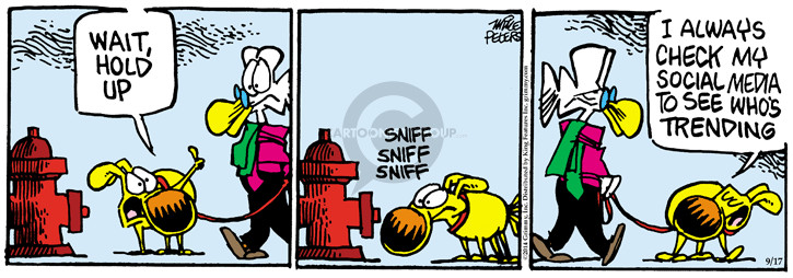 Cartoonist Mike Peters  Mother Goose and Grimm 2014-09-17 network
