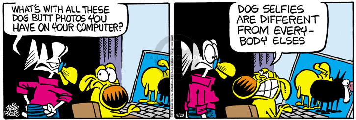 Comic Strip Mike Peters  Mother Goose and Grimm 2014-09-20 photo