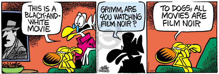 Cartoonist Mike Peters  Mother Goose and Grimm 2014-09-27 white