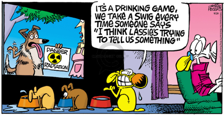 Comic Strip Mike Peters  Mother Goose and Grimm 2014-09-28 drink