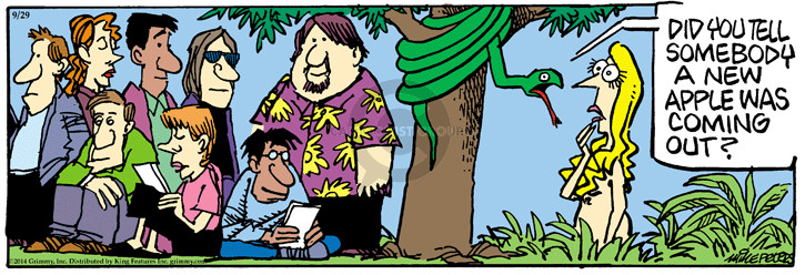 Cartoonist Mike Peters  Mother Goose and Grimm 2014-09-29 Eve
