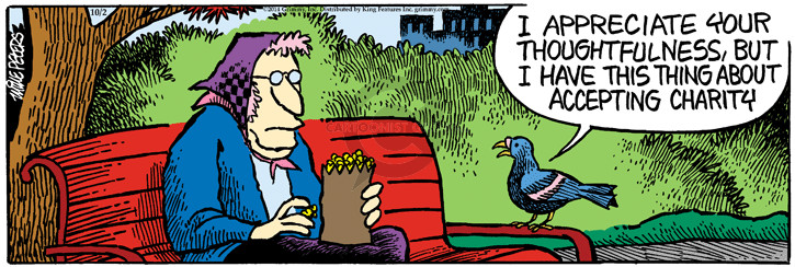 Cartoonist Mike Peters  Mother Goose and Grimm 2014-10-02 assistance