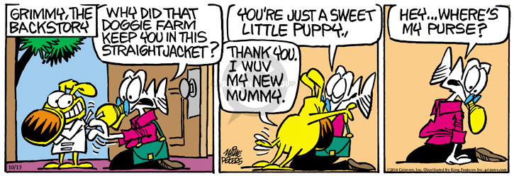 Comic Strip Mike Peters  Mother Goose and Grimm 2014-10-13 puppy dog