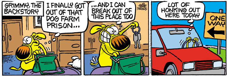 Comic Strip Mike Peters  Mother Goose and Grimm 2014-10-16 get