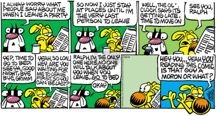 Comic Strip Mike Peters  Mother Goose and Grimm 2014-10-19 yep