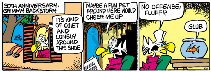 Cartoonist Mike Peters  Mother Goose and Grimm 2014-10-06 story