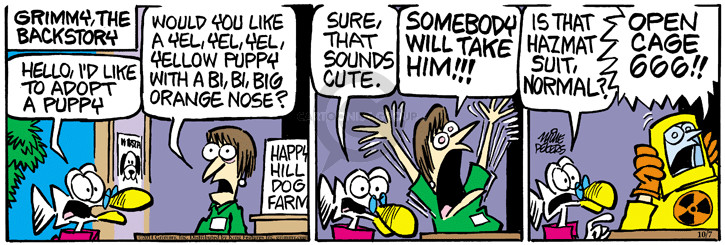 Comic Strip Mike Peters  Mother Goose and Grimm 2014-10-07 puppy dog