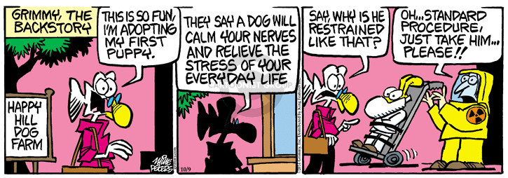 Comic Strip Mike Peters  Mother Goose and Grimm 2014-10-09 puppy dog