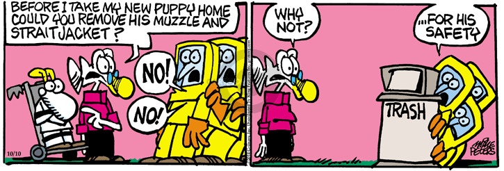 Comic Strip Mike Peters  Mother Goose and Grimm 2014-10-10 safety