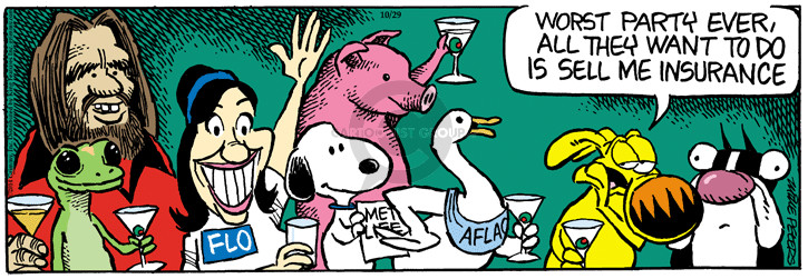 Cartoonist Mike Peters  Mother Goose and Grimm 2014-10-29 white