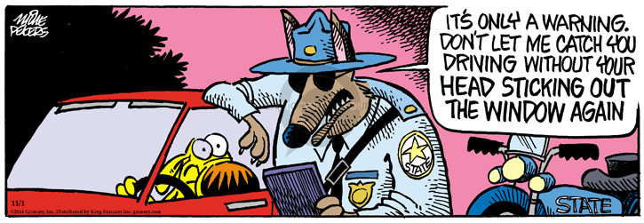 Comic Strip Mike Peters  Mother Goose and Grimm 2014-11-01 state