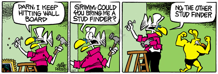 Comic Strip Mike Peters  Mother Goose and Grimm 2014-11-07 board