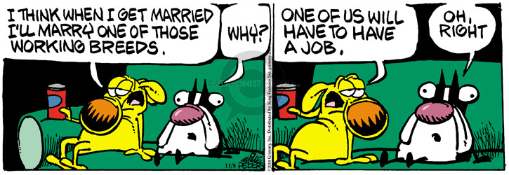 Cartoonist Mike Peters  Mother Goose and Grimm 2014-11-08 jobless