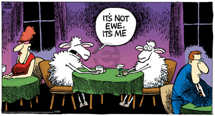 Comic Strip Mike Peters  Mother Goose and Grimm 2014-11-16 break-up