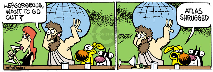 Cartoonist Mike Peters  Mother Goose and Grimm 2014-11-22 line-up