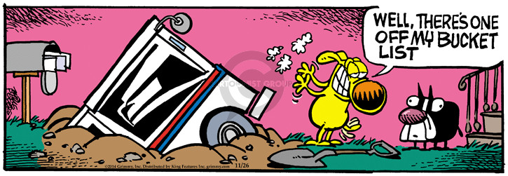 Cartoonist Mike Peters  Mother Goose and Grimm 2014-11-26 dig