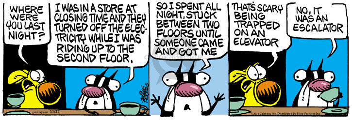 Comic Strip Mike Peters  Mother Goose and Grimm 2014-11-27 get