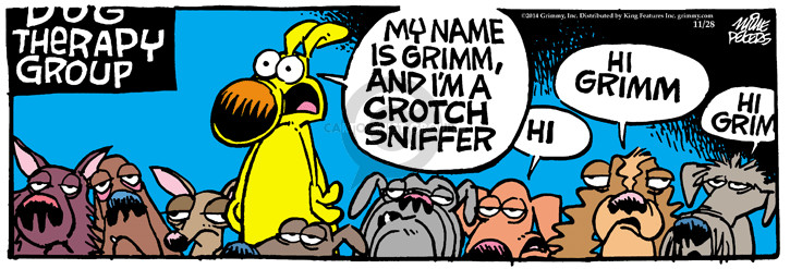 Comic Strip Mike Peters  Mother Goose and Grimm 2014-11-28 behavior