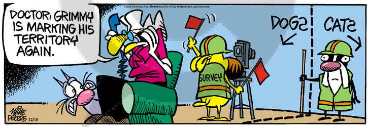 Comic Strip Mike Peters  Mother Goose and Grimm 2014-12-10 cat dog