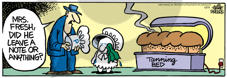 Comic Strip Mike Peters  Mother Goose and Grimm 2014-12-11 Mrs.