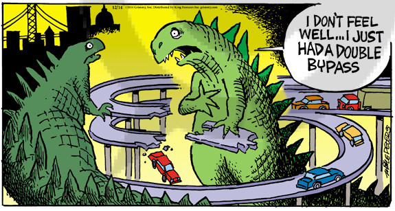 Cartoonist Mike Peters  Mother Goose and Grimm 2014-12-14 high