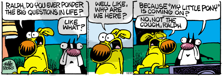 Comic Strip Mike Peters  Mother Goose and Grimm 2014-12-15 purpose