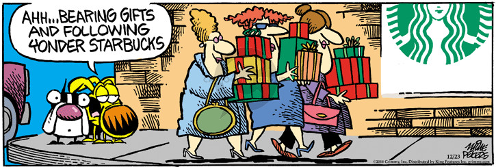 Comic Strip Mike Peters  Mother Goose and Grimm 2014-12-23 follow