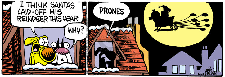 Cartoonist Mike Peters  Mother Goose and Grimm 2014-12-24 technology