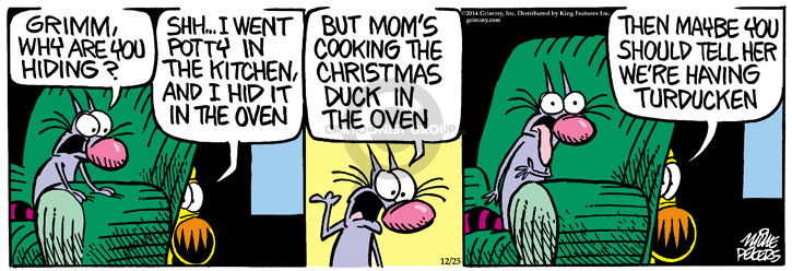 Comic Strip Mike Peters  Mother Goose and Grimm 2014-12-25 kitchen