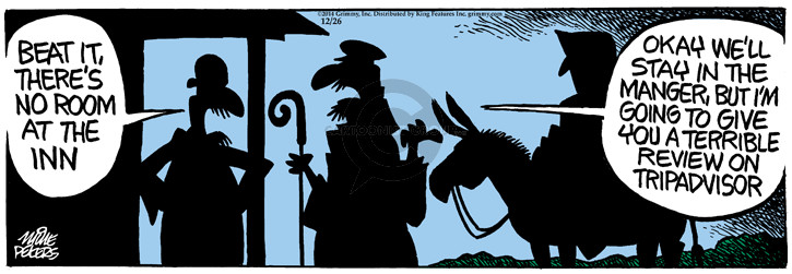 Cartoonist Mike Peters  Mother Goose and Grimm 2014-12-26 travel