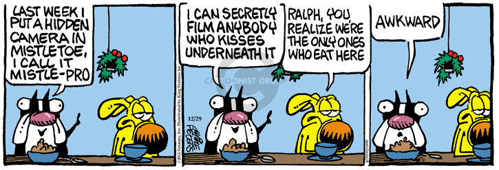 Comic Strip Mike Peters  Mother Goose and Grimm 2014-12-29 underneath
