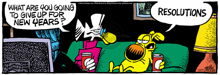 Cartoonist Mike Peters  Mother Goose and Grimm 2014-12-31 Eve