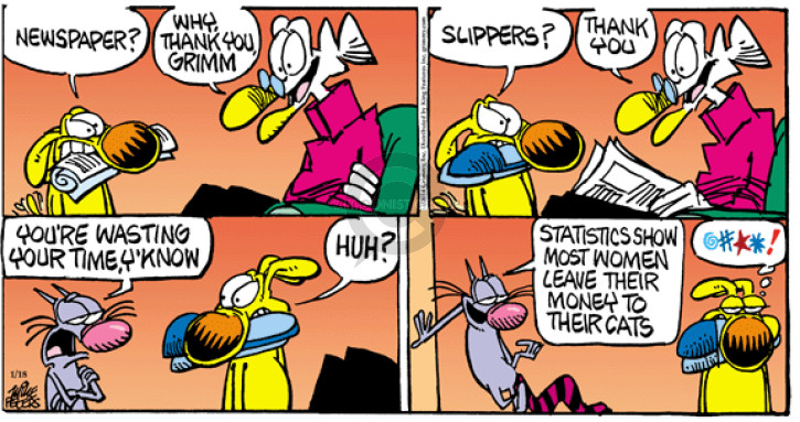 Comic Strip Mike Peters  Mother Goose and Grimm 2015-01-18 pet