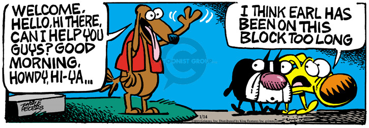 Comic Strip Mike Peters  Mother Goose and Grimm 2015-01-14 good dog