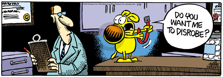 Comic Strip Mike Peters  Mother Goose and Grimm 2015-01-16 clothes