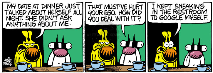 Comic Strip Mike Peters  Mother Goose and Grimm 2015-01-26 self-esteem