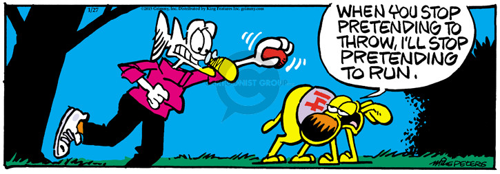 Comic Strip Mike Peters  Mother Goose and Grimm 2015-01-27 fetch