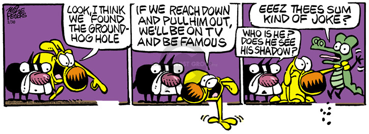 Cartoonist Mike Peters  Mother Goose and Grimm 2015-01-30 pull