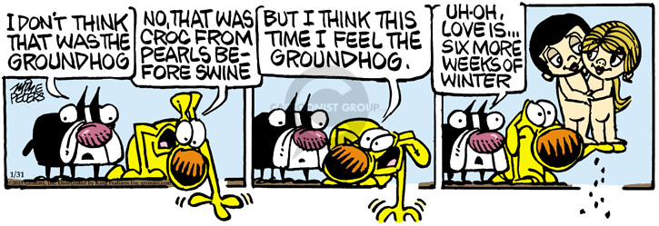 Cartoonist Mike Peters  Mother Goose and Grimm 2015-01-31 week