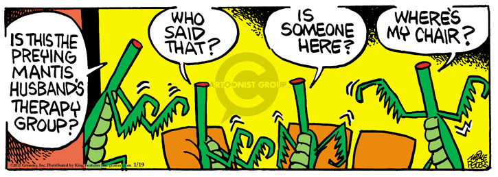 Comic Strip Mike Peters  Mother Goose and Grimm 2015-01-19 prey