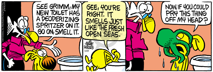 Cartoonist Mike Peters  Mother Goose and Grimm 2015-01-23 freshener