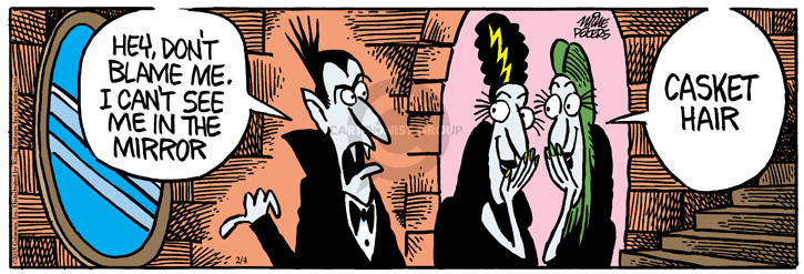 Comic Strip Mike Peters  Mother Goose and Grimm 2015-02-04 grooming