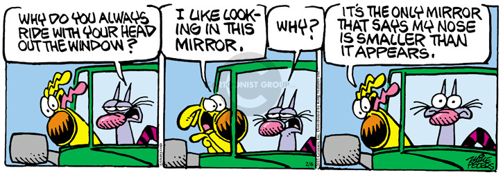 Cartoonist Mike Peters  Mother Goose and Grimm 2015-02-06 nose