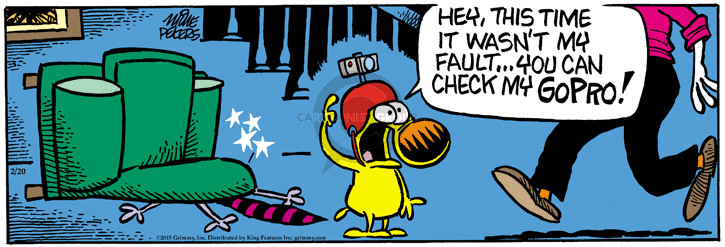 Cartoonist Mike Peters  Mother Goose and Grimm 2015-02-20 camera